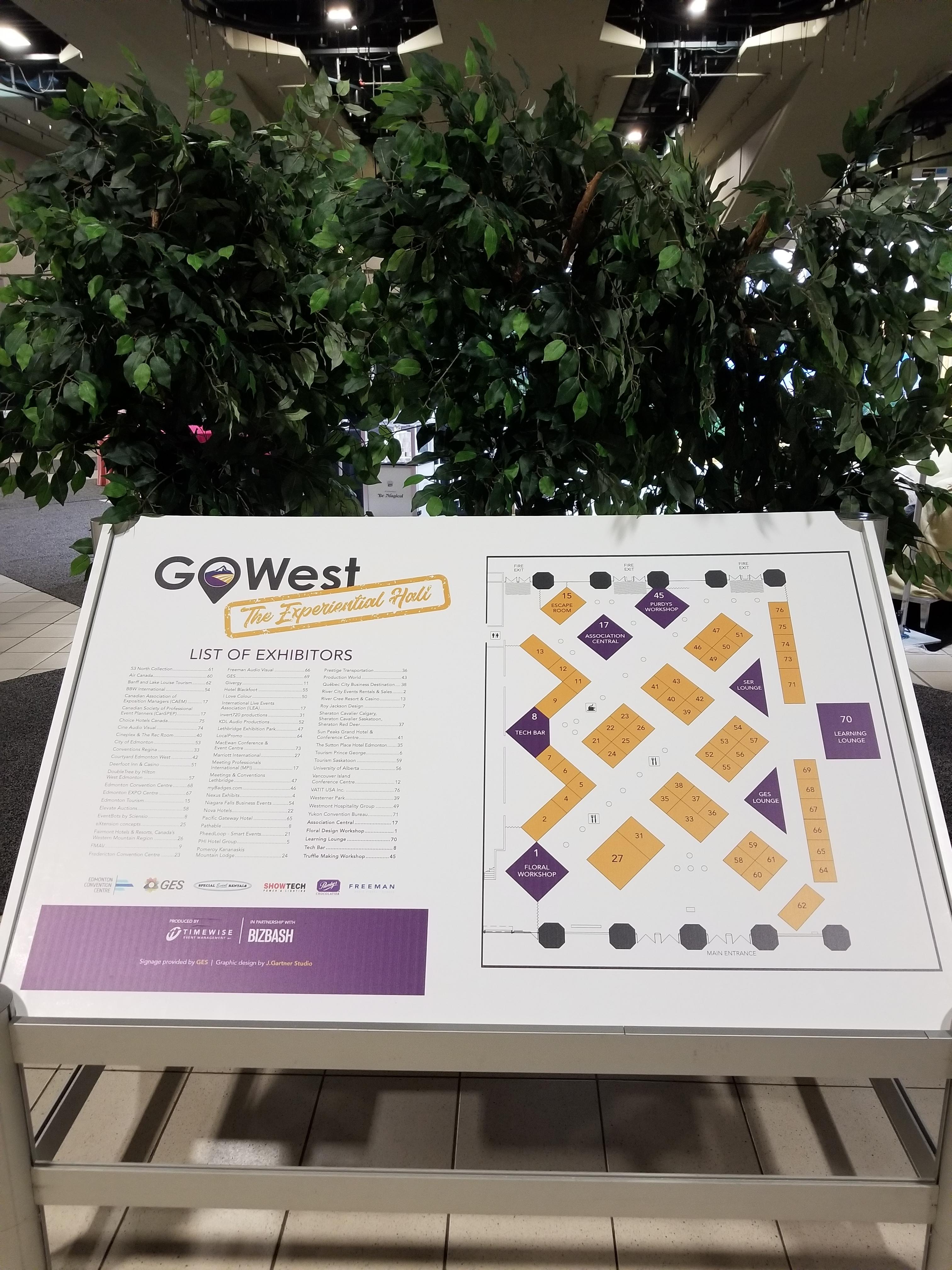 Go West Event Map Plantit Events inc